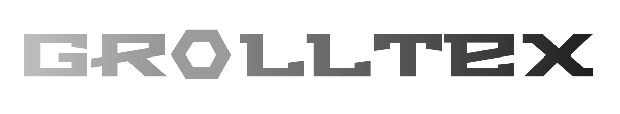 "Grolltex logo - name derived from 'Graphene Roll Technologies"""