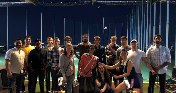 Several NASCENT Graduate Students at SLC Topgolf Social_NSF Site Visit 2018