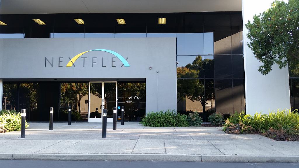 Entrance to NEXTFLEX facility in San Jose CA